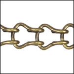 Ladder Chain ANT. BRASS - per 50ft spool