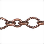 3:1 Nautical Chain ANT. COPPER - per 25ft spool