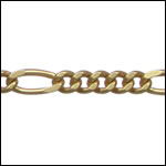 5:1 figaro chain MATTE GOLD - per 25ft spool