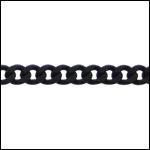 small flattened curb chain NITE BLACK - per 50ft spool