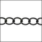 medium curb chain MATTE GUNMETAL
