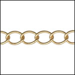 medium curb chain MATTE GOLD - per 50ft spool