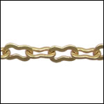 large peanut chain MATTE GOLD - per 25ft SPOOL