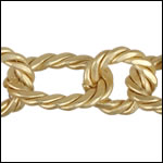 mixed rope chain MATTE GOLD - per 10ft spool