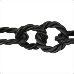 mixed rope chain NITE BLACK - per 10ft spool