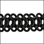 triple chainmail chain NITE BLACK - per 10ft spool