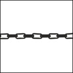 2.0 rectangle rolo chain NITE BLACK - per 25ft spool
