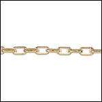 2.0 rectangle rolo chain GOLD