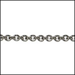 Tiny Oval chain GUNMETAL - per 50ft spool