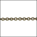 Tiny Oval chain ANT. BRASS - per 50ft spool