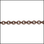 Tiny Oval chain ANT. COPPER - per 50ft spool