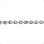 Tiny Oval chain ANT. SILVER - per 50ft spool