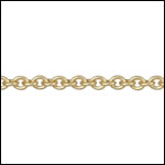 Tiny Oval chain MATTE GOLD - per 50ft spool
