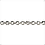 Tiny Oval chain RHODIUM