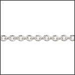 Tiny Oval chain SILVER PLATED - per 50ft spool