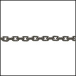 Tiny Rectangle chain MATTE GUNMETAL - per 50ft spool