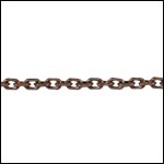 Tiny Rectangle chain ANT. COPPER - per 50ft spool