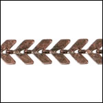 Chevron chain ANT. COPPER - per 50ft spool