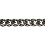 5mm Flat Curb chain GUNMETAL - per 25ft spool