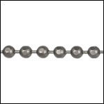 3mm Faceted Ball chain MATTE GUNMETAL - per 25ft spool