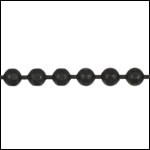 3mm Faceted Ball chain NITE BLACK - per 25ft spool