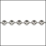 3mm Faceted Ball chain RHODIUM - per 25ft spool