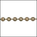 3mm Faceted Ball chain ANT. BRASS - per 25ft spool