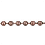 3mm Faceted Ball chain ANT. COPPER - per 25ft spool
