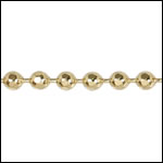 3mm Faceted Ball chain GOLD - 50 meter FACTORY SPOOL