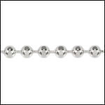 3mm Faceted Ball chain SILVER PLATED - per 25ft spool