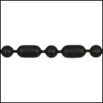 3mm Ball Bar chain NITE BLACK - per 25ft spool