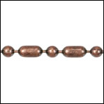 3mm Ball Bar chain ANT. COPPER - per 25ft spool