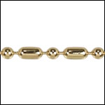 3mm Ball Bar chain GOLD - 50 meter FACTORY SPOOL