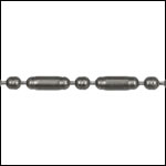 2mm Lined Ball Bar chain MATTE GUNMETAL - per 25ft spool