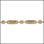2mm Lined Ball Bar chain GOLD - 50 meter FACTORY SPOOL