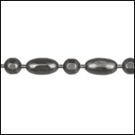 3mm Ball Rice chain MATTE GUNMETAL - per 25ft spool