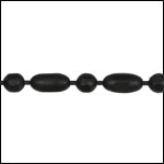 3mm Ball Rice chain NITE BLACK - per 25ft spool