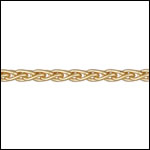 3mm wheat chain MATT GOLD - per 50ft spool