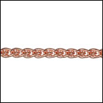 3mm wheat chain ROSE GOLD - per 25ft spool