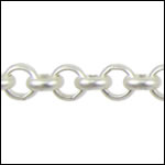 4.8mm rolo chain MATTE SILVER - per 50 foot spool