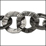 hammered washer chain ANT. SILVER - per 20 meter FACTORY SPOOL