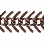Medium Fishbone chain ANT. COPPER - per 50ft spool