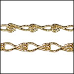 Etched Gear Link chain GOLD