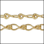 Etched Gear Link chain MATTE GOLD - per 50ft spool