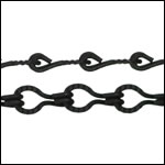 Etched Gear Link chain NITE BLACK - per 50ft spool