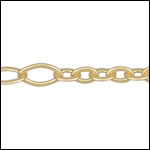 5:3 Oval chain MATTE GOLD - per 50ft spool