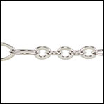 5:3 Oval chain SILVER PLATED - per 50ft spool