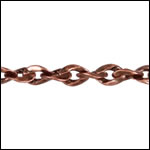 Twisted Curb chain ANT. COPPER - per 50ft spool