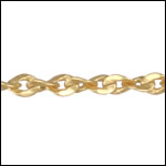Twisted Curb chain MATTE GOLD - per 50ft spool