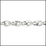 Twisted Curb chain SILVER PLATED - per 50ft spool